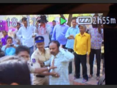 Journalist Manhandled