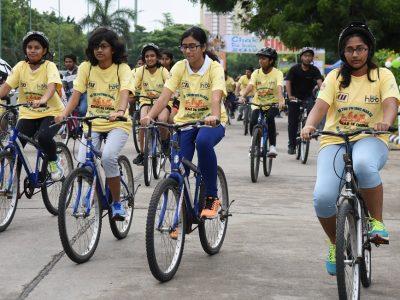 HITEX Grounds Bicycle Chak de India ride