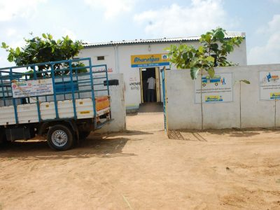 Bharat Gas warehouse from which the unidentified gang robbed cylinders in Hyderabad.