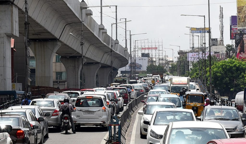 File Photo: Traffic in Hyderabad.