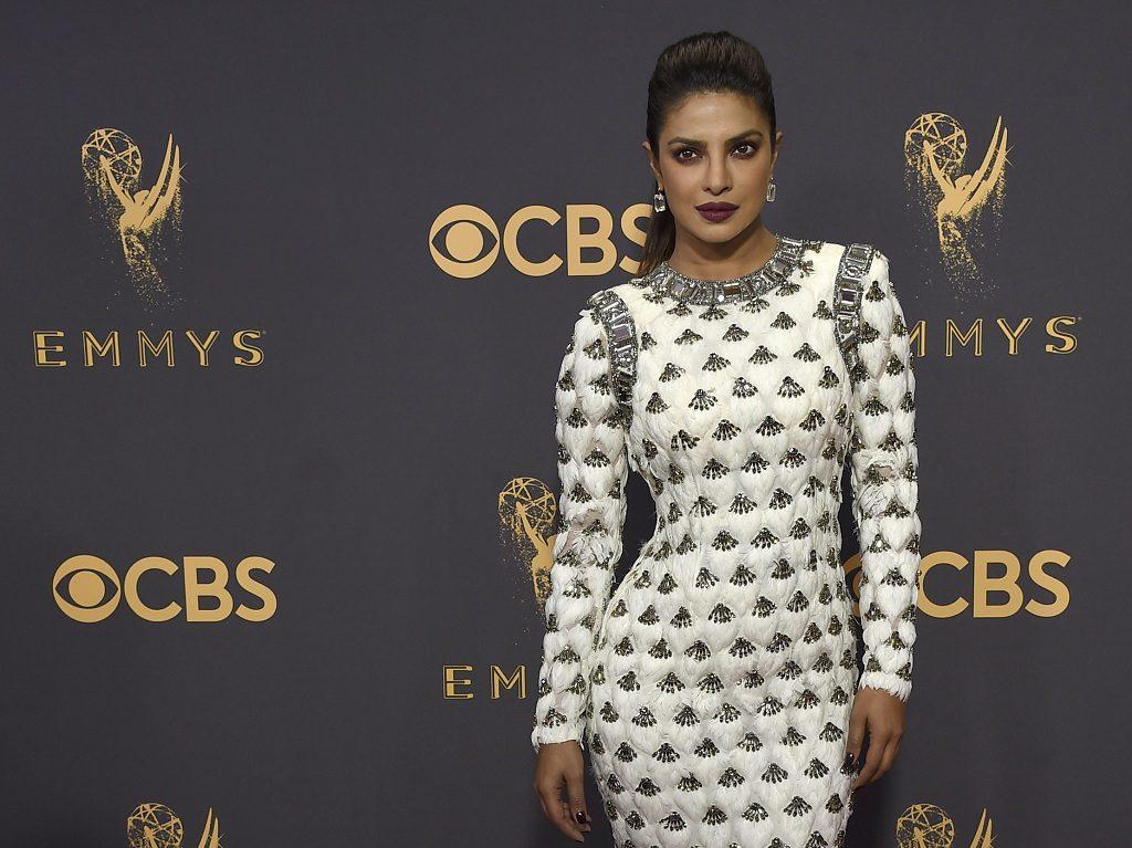 Image result for Priyanka Chopra dazzles in white at Emmy Awards 2017