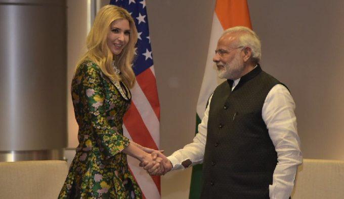 Ivanka Trump and Prime Minister Modi at GES 2017