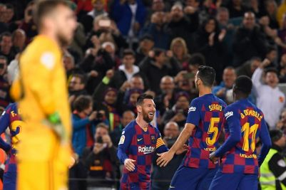 Messi's dead-ball hat-trick puts Barcelona back on top