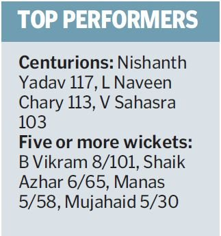 Vikram scalps eight wickets at a two-day league in Hyderabad