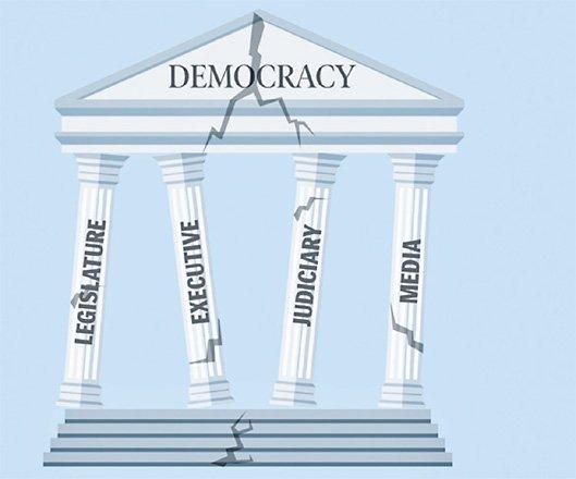 Pillars of democracy are fraying