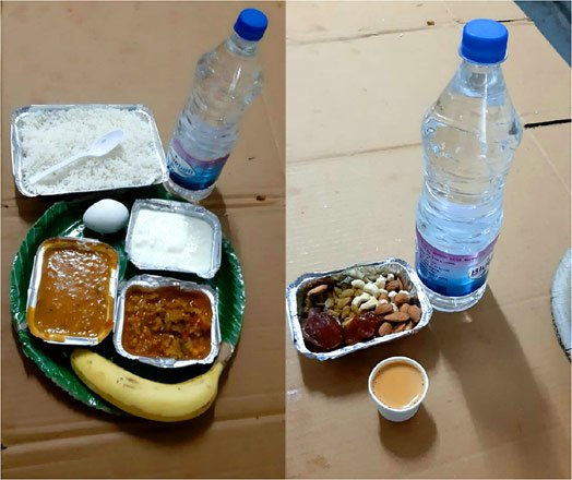 What food is served for coronavirus patients at Gandhi Hospital?