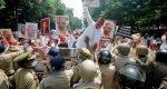 Samajwadi workers protest