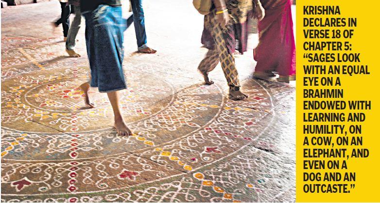 Gita's stance on caste
