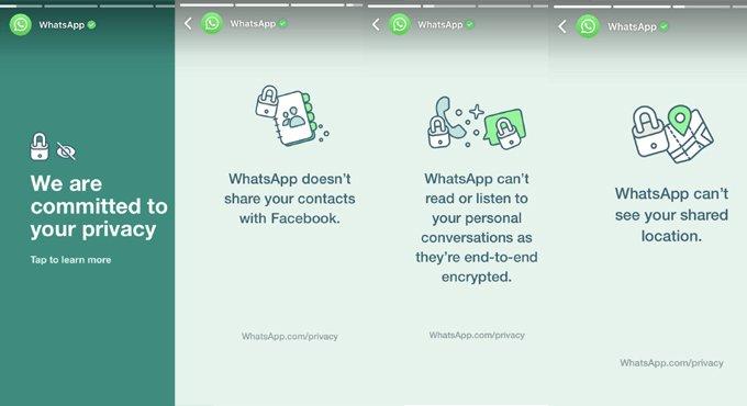 WhatsApp backs privacy policy in own status, twitterati goes berserk