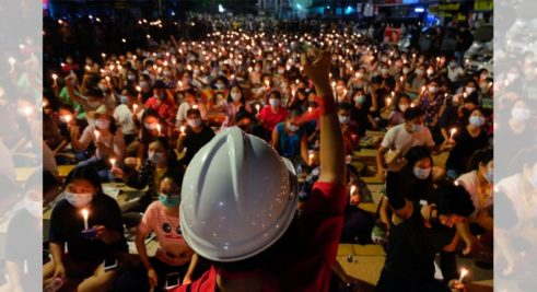 Myanmar-anti-coup-protest