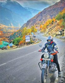 Hyderabadi woman biker
