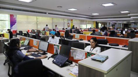 Bürostress in Indien